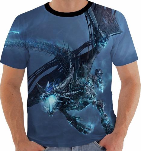 camiseta world of warcraft - ice dragon - games