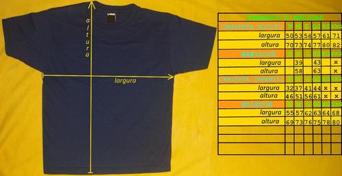 camiseta xg malha surf bandas rock tamanhos extra
