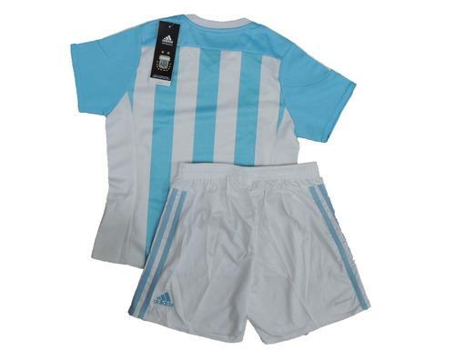 camiseta y short conjunto de argentina original niños adidas