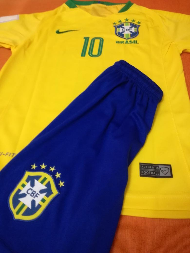 67f2cf3db40b9 camiseta y short seleccion brasil titular   10 neymar jr. Cargando zoom.