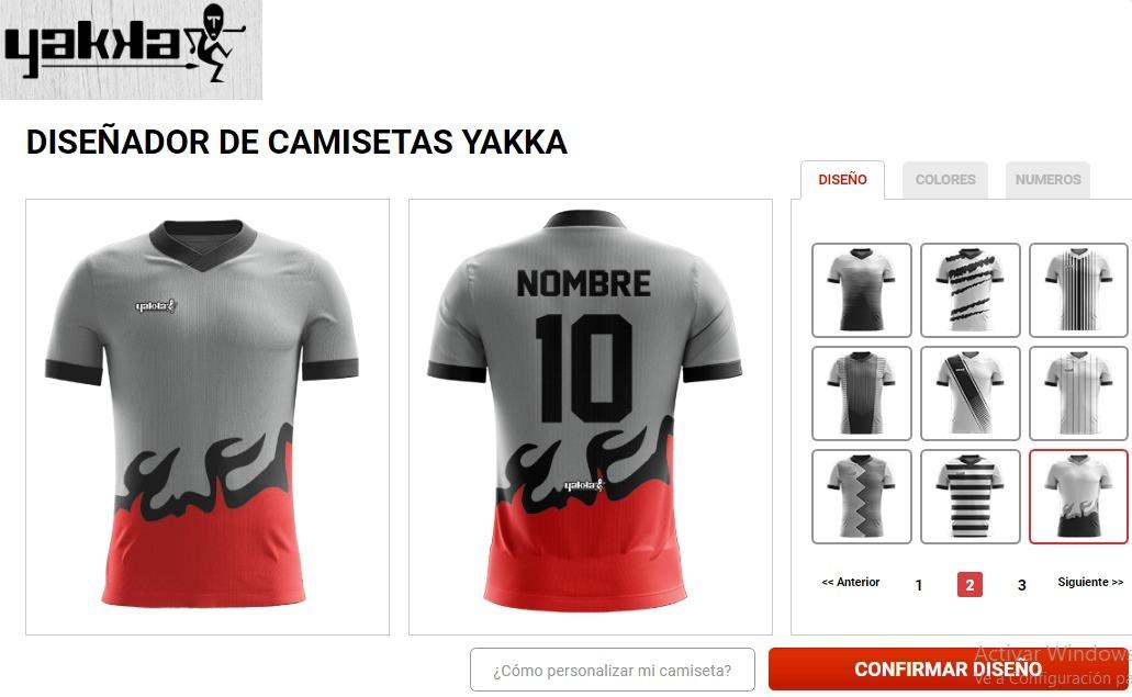 74b9f587f836d camiseta yakka diseña pedido futbol nombre numerada pack 11. Cargando zoom.