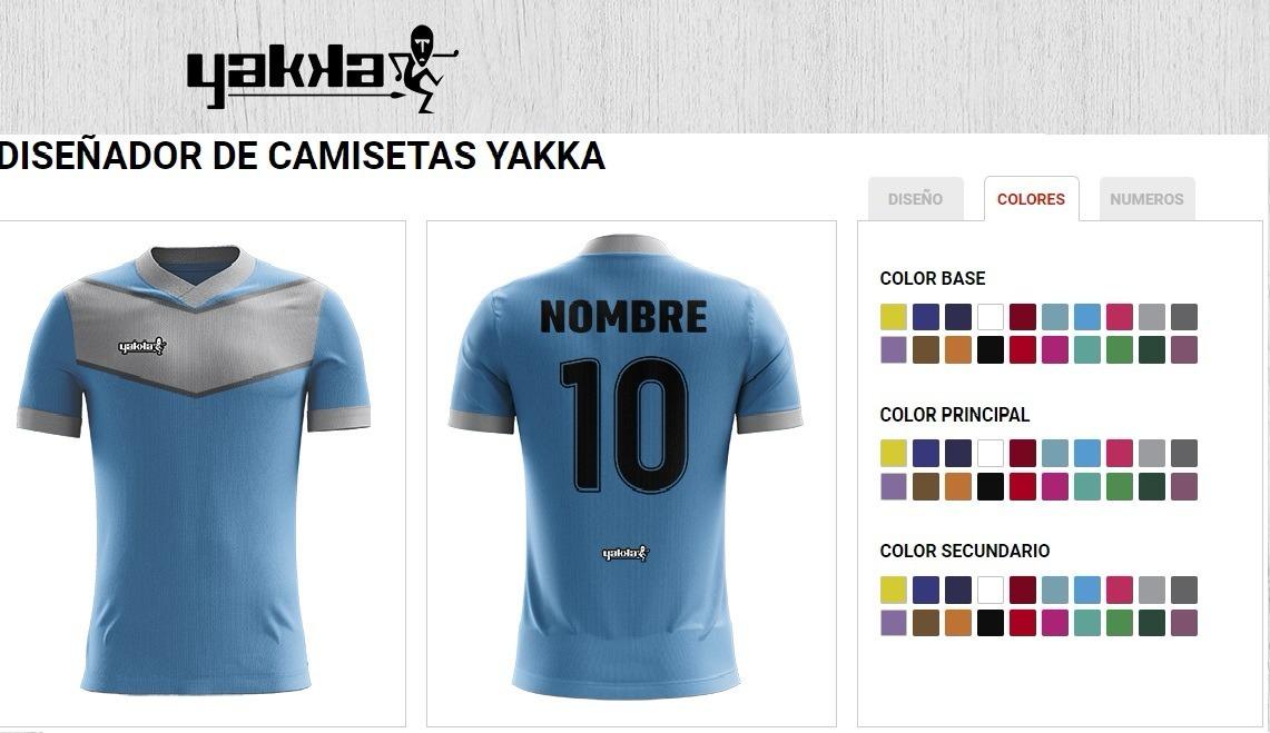 893a99211b361 camiseta yakka diseñala pedido futbol nombre numerada pack 8. Cargando zoom.