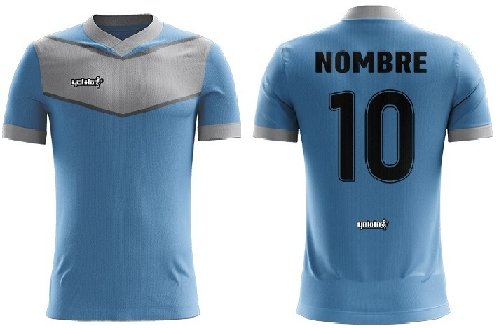 c6431c1b64ca8 Camiseta Yakka Diseñala Pedido Futbol Nombre Numerada Pack 8 ...