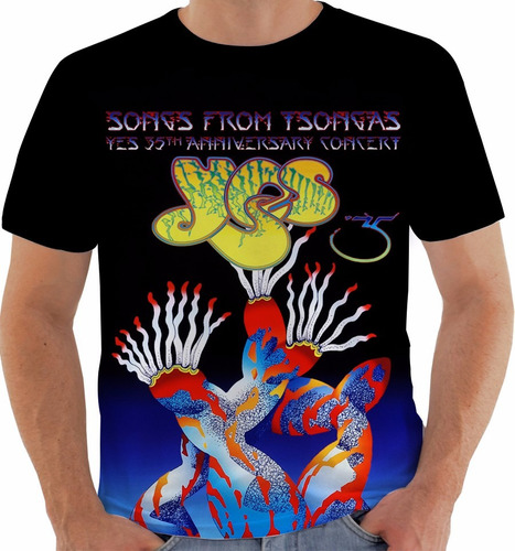 camiseta yes - concert poster - live 35 anniversary m073