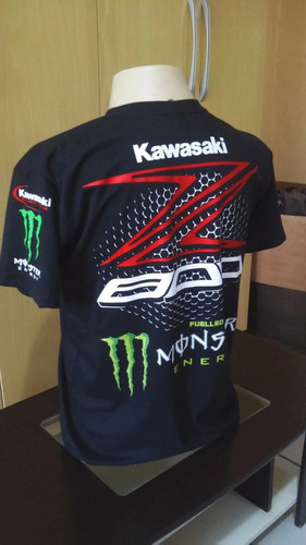 camiseta z800 monster kawasaki