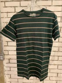 0b797a3646 Camiseta Zara Listrada no Mercado Livre Brasil