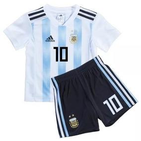 ebc1fb6920372 Kit Camiseta Short Argentina Messi Niño Kid Nene 2018 Orig
