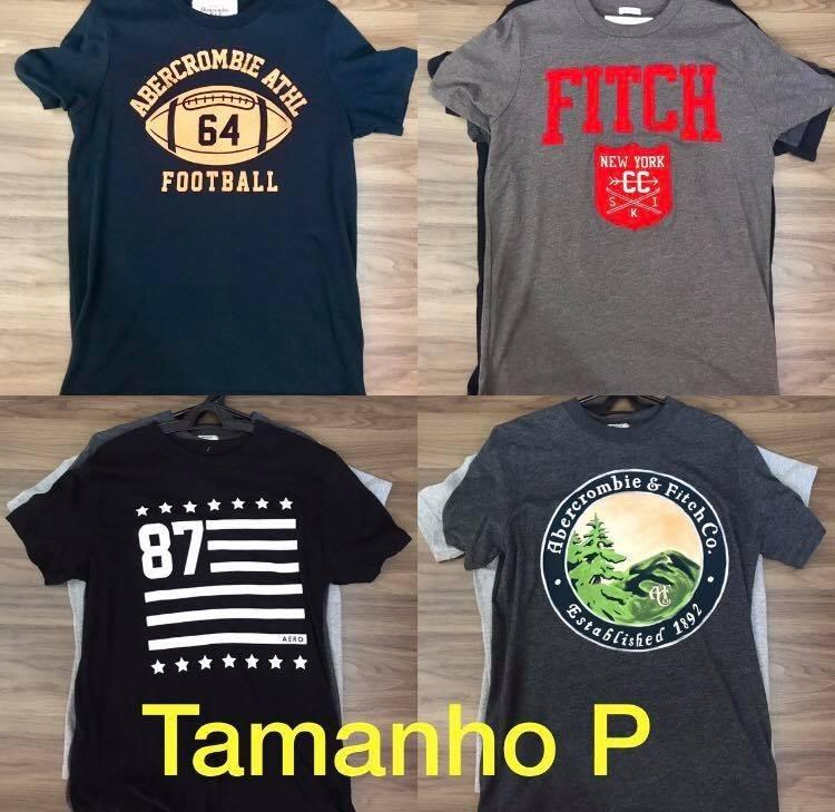 Camisetas Abercrombie   Fitch Hollister Original. - R  99 886b1f677191e