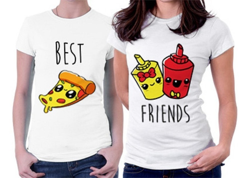 camisetas amigas best friends bff amigos - 2 camisetas