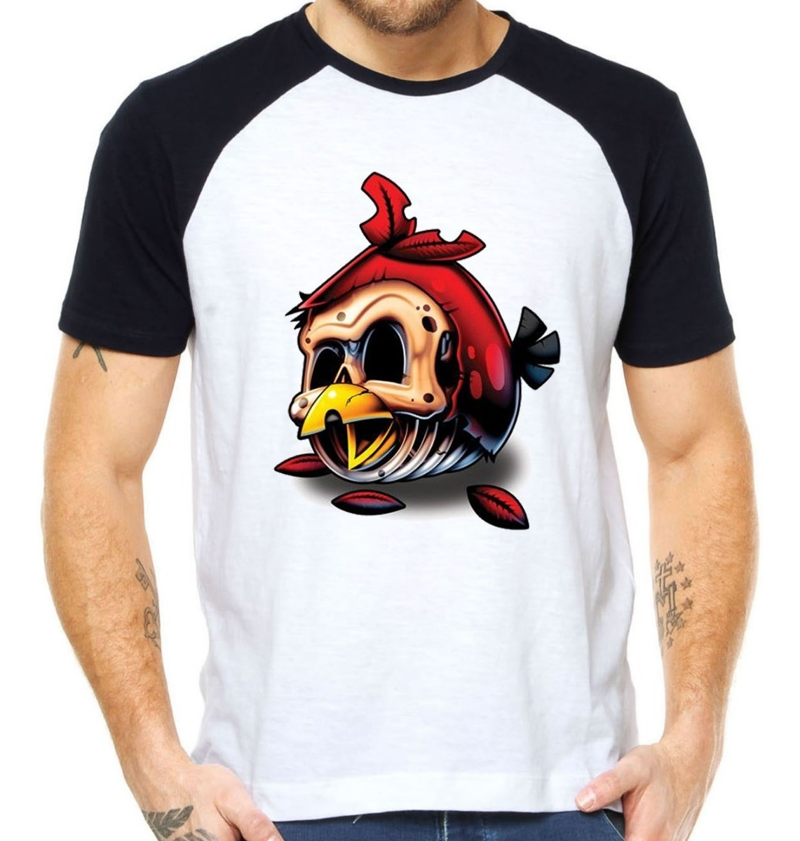 Camisetas Angry Birds Camisas Games Zumbi Zombie Android R 32