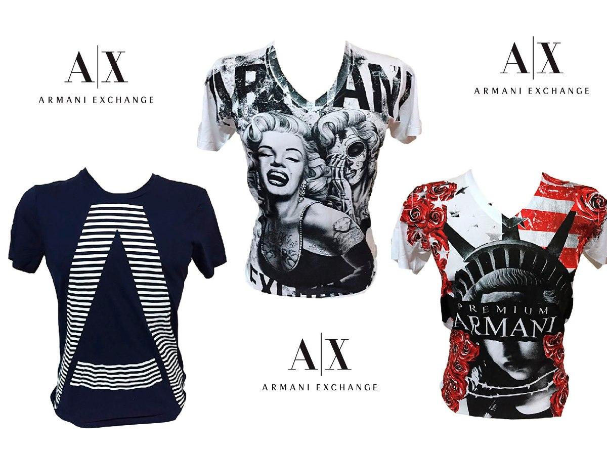 Camisetas Armani Exchange 100%original - R  73,90 em Mercado Livre 3564dd07a72