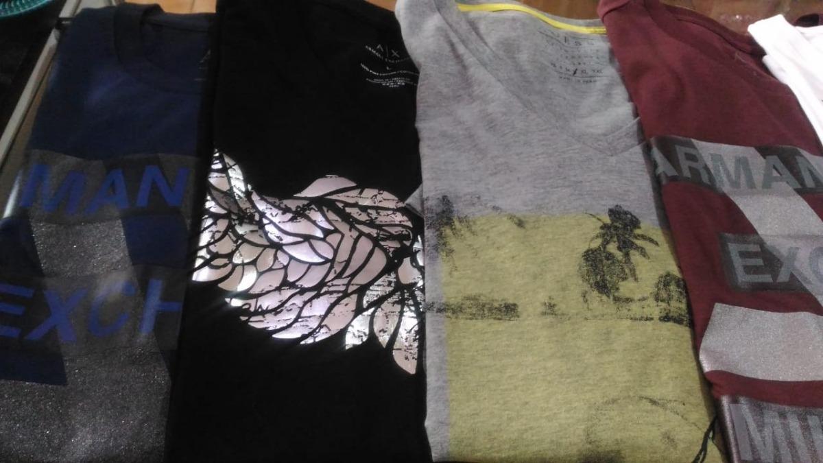 d8f97a7da Camisetas Armani Exchange Original Frete Gratis - R  120