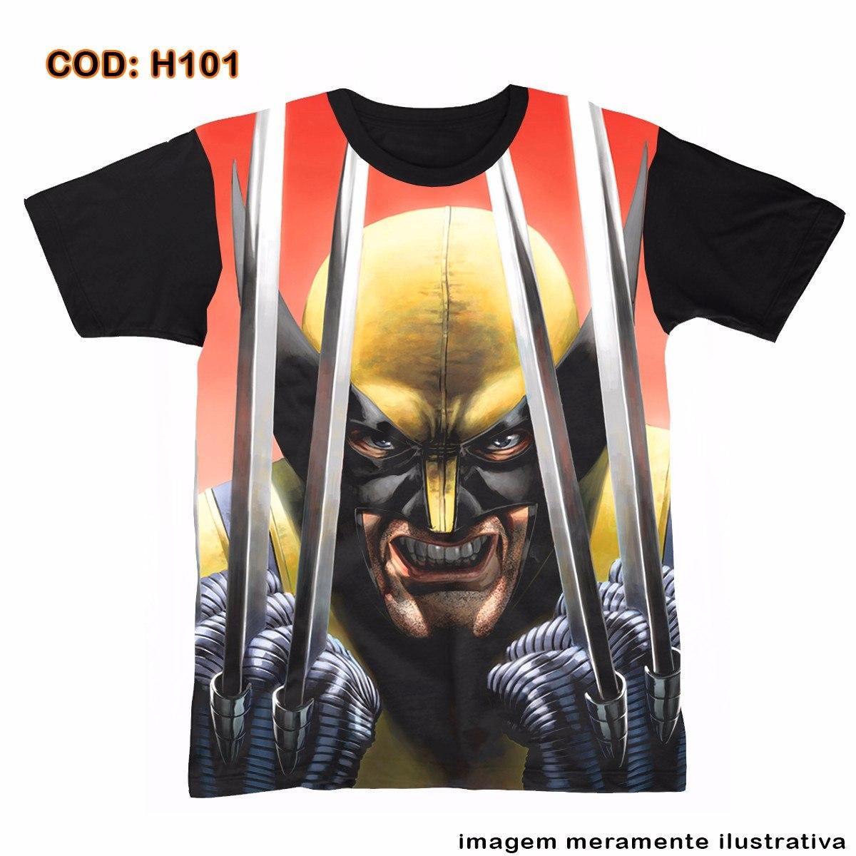bc53212824 camisetas básica unissex wolverine classic big face. Carregando zoom.