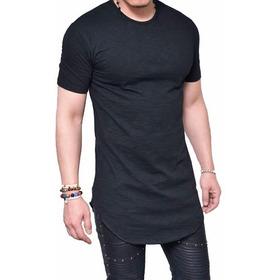 Camisetas Basicas Largas Para Hombre