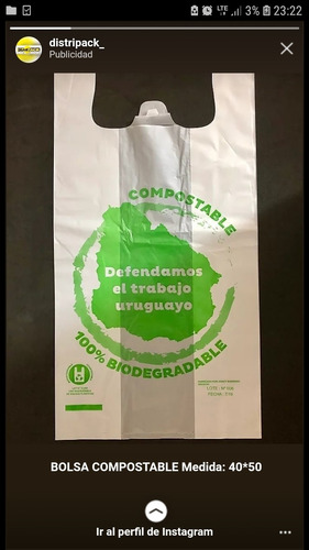 camisetas biodegradables y compostables