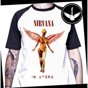 b14f59d0a9 Nirvana In Utero - Camisetas e Blusas para Feminino no Mercado Livre ...