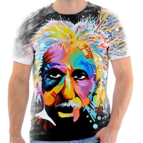 7370a61fd Camiseta Camisa Personalizada Albert Einstein 4 Frete Grátis