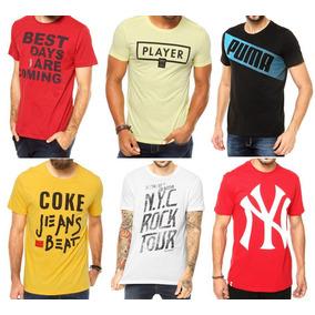 e0c994f049eac Kit 10 Camisetas Camisa Blusa Marcas Famosa Atacado Revenda ...