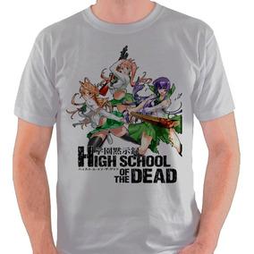 855b4f349 Camiseta High School Of The Dead Camisa Blusa Anime Mangá