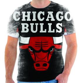 f0bb223ef844e Camiseta Chicago Bulls Branca no Mercado Livre Brasil