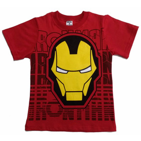 b790d11ef Camiseta Infantil Homem De Ferro Ironman Super Heróis