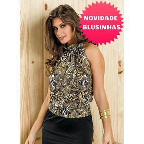 7ab373fd1 Blusa Gola Alta Cavada - Camisetas e Blusas para Feminino no Mercado ...