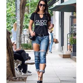 892736440e3 T Shirt Feminina Gucci - Camisetas e Blusas Manga Curta para ...