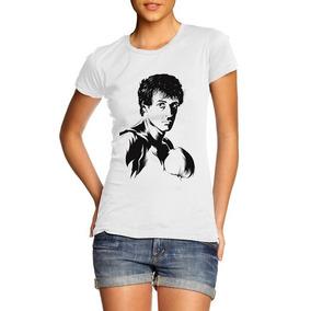 4a56726e9 Camiseta Blusa Baby Look Feminina Rocky Balboa Boxe Filme