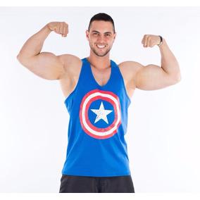e88e9b8bc567d Camiseta Regata Capitão America - Camisetas para Masculino no ...