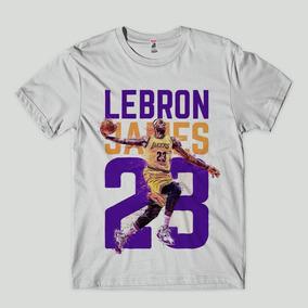 e870cf737 Camiseta Masculina Lebron James Lakers Nba Frente Costas