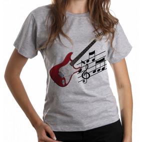 39684f9ff892c Blusa Feminina Baby Look Guitarra Musica Rock Instrumento
