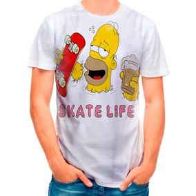 94ae467ada4dd Camisa Camiseta Homer Simpsons Cerveja Skate D 1984