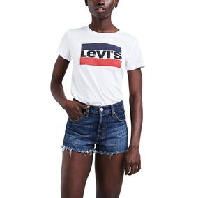 830a7cdeb78ff Camiseta Levis Feminina Logo Sportswear Branca
