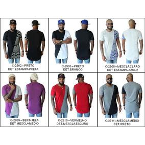 e0bcfe311bff6 Camiseta Lisa Alongada Branca - Camisetas e Blusas no Mercado Livre ...