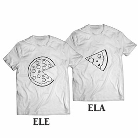 daa6c9c85 Kit 2 Camisas Namorados Paquera Amor Modelo 14 Pizza · R  50 90