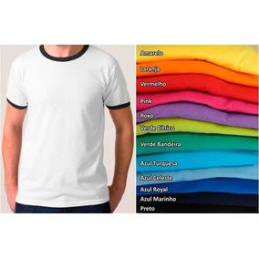 82811cb7c8732 Kit 10 Camisetas Lisa Colorida Poliéster C  Ribanas + Gola V