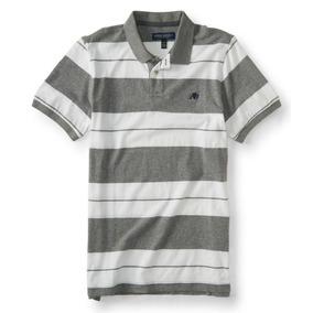 cdccd192f3d45 Camiseta Polo Aeropostale Logo A87 Marinho - Calçados