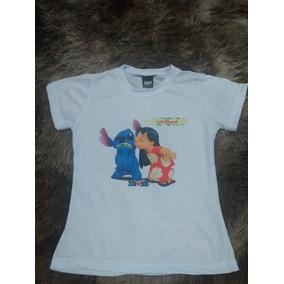 4f505861685ce Camiseta Personalizada Em Poliéster Baby Loock (lilo Stitch)