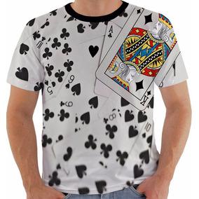 0d3f60f34 Camiseta Baralho Dama E Rei M - Camisetas no Mercado Livre Brasil