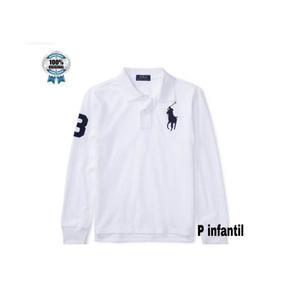 599d5eedcc434 Camiseta Ralph Lauren Branca Manga Longa Gola V - Calçados