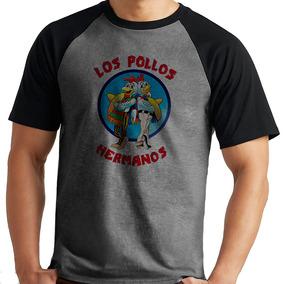 785daefc4 Camiseta Breaking Bad Los Pollos Série Raglan Mescka Curta · R  39 90