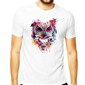 ea7d04788 Camiseta Coruja Skull Caveira Owl Camisa Masculina Coruja 10
