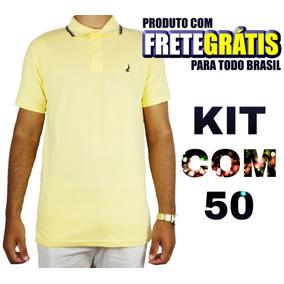 c7c5ed8a88113 Kit 50 Camiseta Camisa Blusa Masculina De Marca Atacado