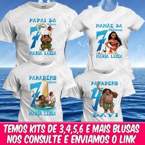 4202f75c941d0 Kit De Camiseta Moana - Camisetas Manga Curta no Mercado Livre Brasil