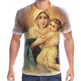 417884041a6 Camiseta Bordada Nossa Senhora Rainha - Camisetas no Mercado Livre ...