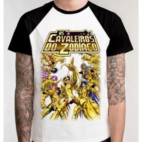 2732a6aaf Camiseta Cavaleiros Do Zodiaco Blusa Raglan Camisa Anime C24
