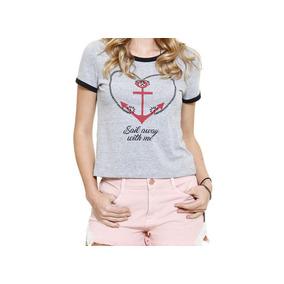 383b006160 Blusa Ancora Feminina - Blusas para Feminino no Mercado Livre Brasil