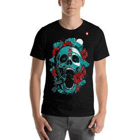 88882771f Caveira Vintage Skull Vintage Camiseta - Camisetas e Blusas no ...