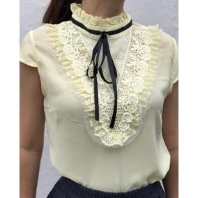 b3cc2fc6f4 Blusa Cetim Renda - Blusas para Feminino no Mercado Livre Brasil