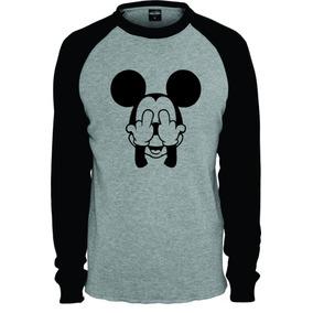 9fa03a2f6 Camiseta Mickey Preta - Camisetas Manga Longa no Mercado Livre Brasil
